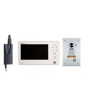 "Aiphone Intercom Kit 7"" Monitor with Flush Mounted Door Station, JO Series"