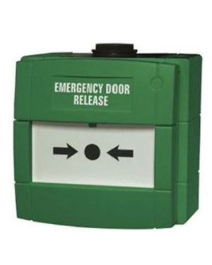 KAC Green MCP Emergency Break Glass, door release, IP67, DP, SU0636