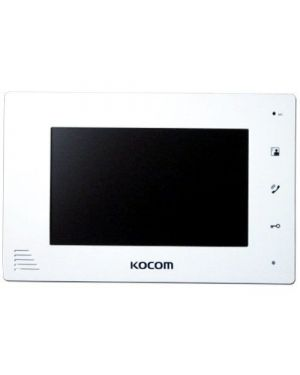 "Kocom 7"" Handsfree additional monitor for KCV-D504, 4 wire system White/Mirror"