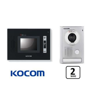 "Kocom  Colour hands Free Video door phone, 3.5"" Screen and door station, 2 wire, Model: KCV-D352"