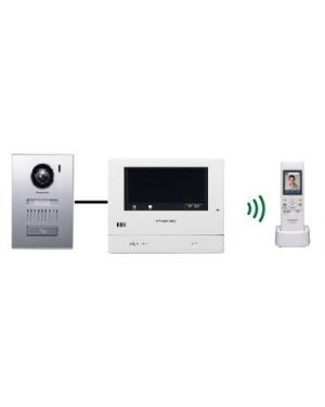 "Panasonic Video Intercom 5"" Monitor with door station + Wireless handset, VL-SWD501AZ Kit"