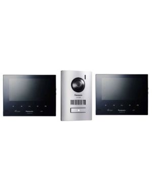 "Panasonic Home Intercom 7"" Kit with Mirror Monitor and Door Station"