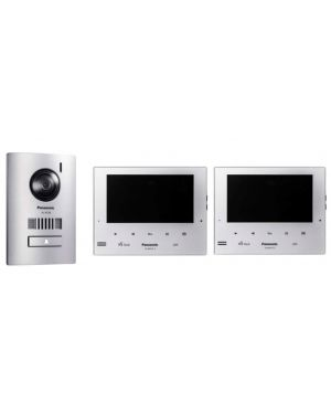 "Panasonic Home Intercom 7"" Kit with White Monitor and Door Station"