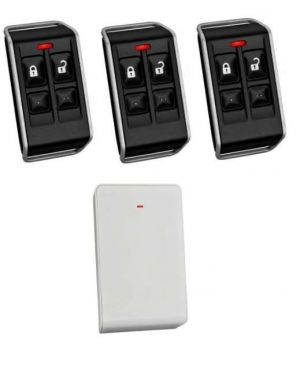Bosch 6000 Delux Remote Control Kit, Wireless Receiver + 3 Remotes with 4 buttons (Plastic radion)