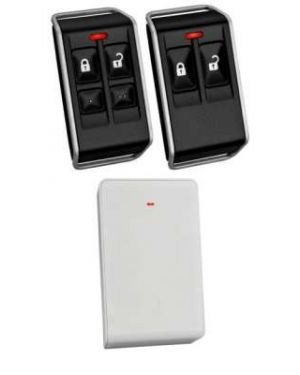 Bosch Delux Keyfob Kit, Wireless Receiver Radion+ 2 Remotes with 4 buttons (Plastic radion) suits 3000 only