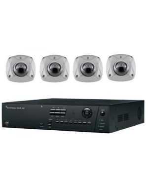 Truvision CCTV IP Kit, 4 Channel with 4 Turrent Camera's 4 Megapixel