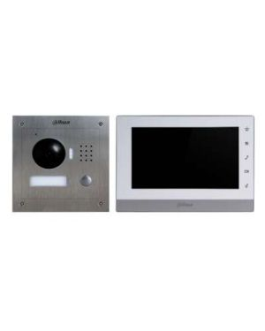 "Dahua IP Intercom Kit 7"" Colour Monitor Square With Stainless Steel Vandal Proof Door Station"