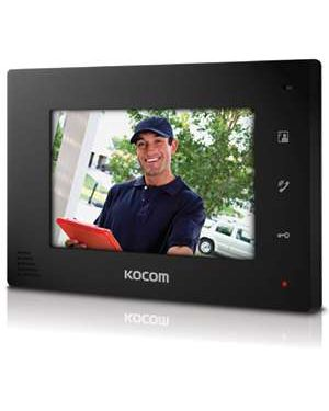 "Kocom 7"" Handsfree additional monitor for KCV-D374SD, 4 wire system Black"