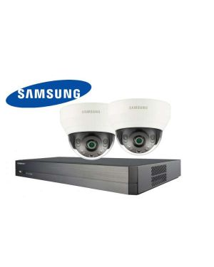 Samsung CCTV IP Kit, 4 Channel with Domes, 2 Cameras