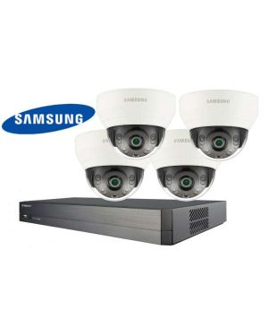 Samsung CCTV IP Kit, 4 Channel with Domes, 4 Cameras