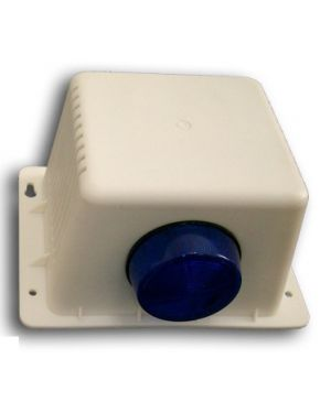 Bosch Plastic Box Siren cover with horn speak & LED strobe to suit hard wired security system