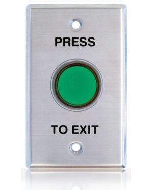 Smart Press to Exit illuminated and shrouded Green button, WEL2231G