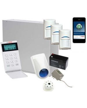 Bosch Solution 3000 Alarm System with 3 x Gen 2 PIR Detectors+ Icon Code pad+IP Module