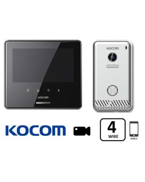 "Kocom Smartphone Video Intercom Kit  7"" Colour Touch Screen  Black"