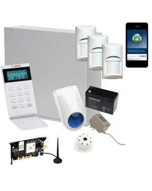 Bosch Solution 3000 Alarm System with 3 x Gen 2 PIR Detectors+ Icon Code pad+GSM Module