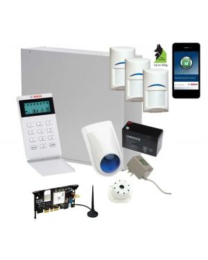 Bosch Solution 3000 Alarm System with 3 x Gen 2 Tritech Detectors+ Icon Code pad+GSM Module