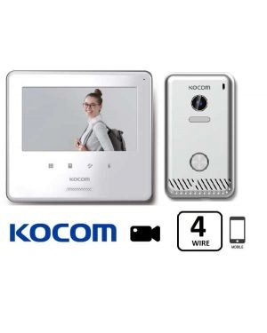 "Kocom Smartphone Video Intercom Kit  7"" Colour Touch Screen White"