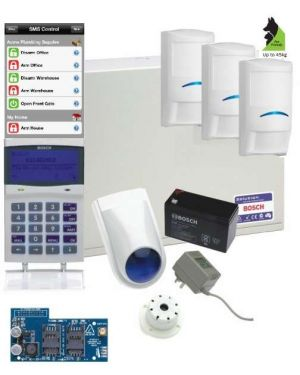 Bosch Solution 6000 Alarm System GSM Kit with 3 x Professional Tri-tech Series PIRs (Pet friendly)