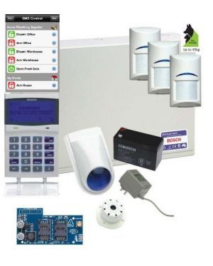 Bosch Solution 6000 Alarm System GSM Kit with 3 x Gen 2 Tritech Detectors