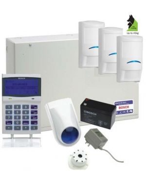 Bosch Solution 6000 Alarm System with 3 x Professional Tri-tech Series PIRs (Pet friendly)
