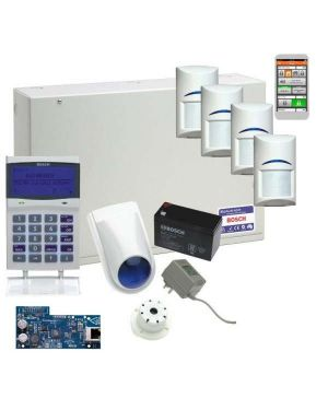 Bosch Solution 6000 Alarm System IP Kit with 4 x Gen 2 Quad Detectors