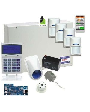 Bosch Solution 6000 Alarm System IP Kit with 4 x Gen 2 Tritech Detectors