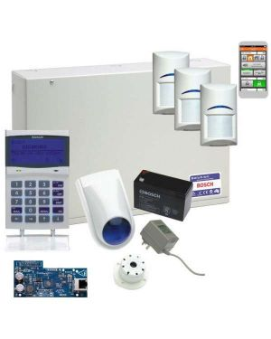 Bosch Solution 6000 Alarm System IP Kit with 3 x Gen 2 Quad Detectors