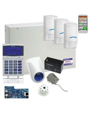 Bosch Solution 6000 Alarm System IP Kit with 3 x Professional Tritech Detectors