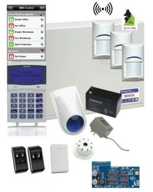 Bosch Solution 6000 Alarm System GSM Kit with 3 x Wireless PIR Detectors+ Deluxe Remotes