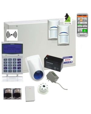 Bosch Solution 6000 Alarm System IP Kit with 2 x Wireless PIR Detectors (Premium Remotes)