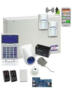Bosch Solution 6000 Alarm System IP Kit with 2 x Wireless Tritech PIR Detectors (Deluxe Remotes)