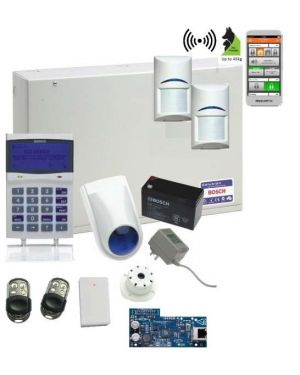 Bosch Solution 6000 Alarm System IP Kit with 2 x Wireless Tritech PIR Detectors (Premium Remotes)
