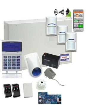 Bosch Solution 6000 Alarm System IP Kit with 3 x Wireless PIR Detectors (Deluxe Remotes)