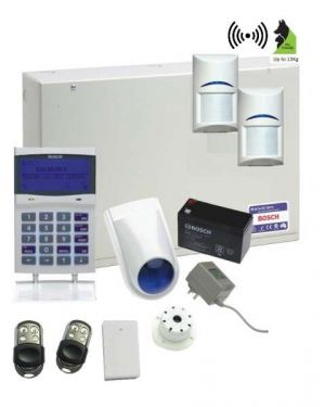 Bosch Solution 6000 Alarm System with 2 x Wireless PIR Detectors+ Graphic codepad (Stainless Steel keyfobs)