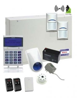 Bosch Solution 6000 Alarm System with 2 x Wireless Tritech PIR Detectors+ Graphic code pad (Plastic Remotes)