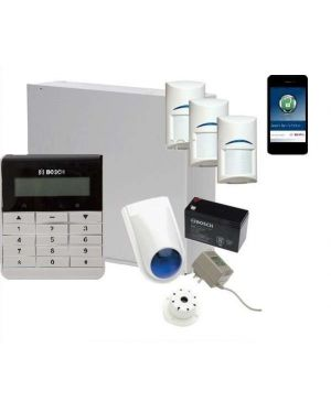 Bosch Solution 3000 Alarm System with 3 x Gen 2 PIR Detectors + Text Code pad+IP Module