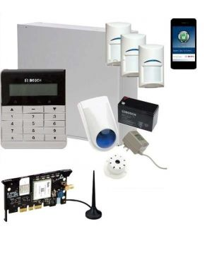 Bosch Solution 3000 Alarm System with 3 x Gen 2 PIR Detectors+ Text Code pad+GSM Module