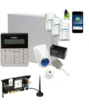 Bosch Solution 3000 Alarm System with 3 x Gen 2 Tritech Detectors+ Text Code pad+GSM Module