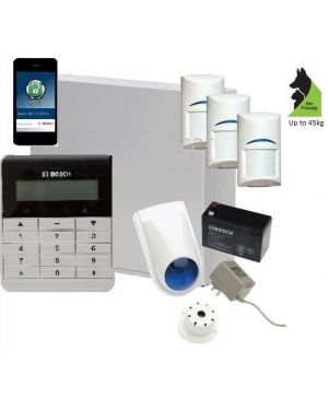 Bosch Solution 3000 Alarm System with 3 x Gen 2 TriTech Detectors+ Text Code pad+ IP Module