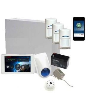 "Bosch Solution 3000 Alarm System with 3 x Gen 2 Quad Detectors+ 5"" Touch Screen Code pad+IP Module"