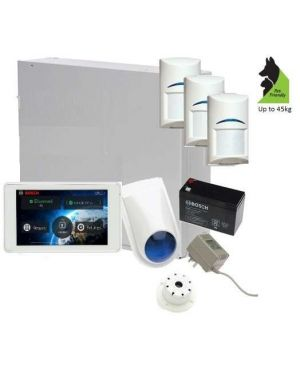"Bosch Solution 3000 Alarm System with 3 x Gen 2 Tritech Detectors+ 5"" Touch Screen Code pad"