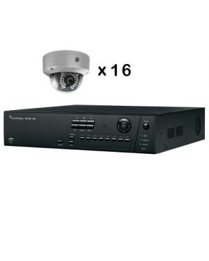 Truvision CCTV IP Kit, 16 Channel with 8 Dome Camera's 4 Megapixel