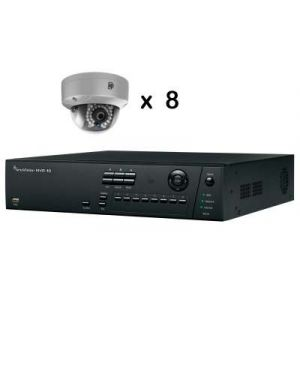 Truvision CCTV IP Kit, 8 Channel with 8 Dome Camera's 4 Megapixel