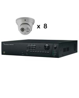 Truvision CCTV IP Kit, 8 Channel with 8 Turrent Camera's 4 Megapixel
