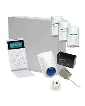 Bosch Solution 3000 Alarm + 3 x Gen 2 Quad Detectors+ Icon Code pad