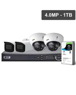VIP Vision™ Security Camera Kit, 4 Channel with 6MP Turret, 4 Cameras, 1 TB Hard Drive