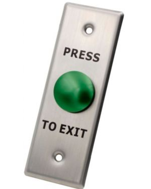 X2 Mushroom Exit Button, Stainless Steel - Small, N/O, SPST, Screw Terminal