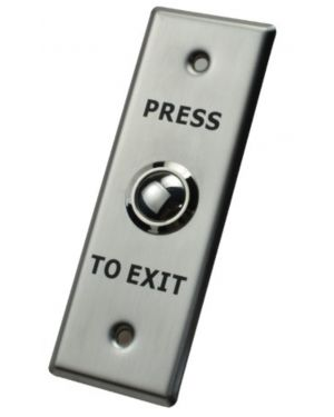 X2 Dome Exit Button, Stainless Steel - Small, N/O, SPST, Screw Terminal, X2-EXIT-011