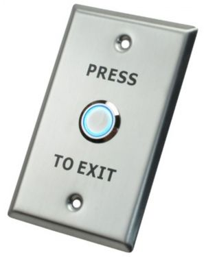 X2 Illuminated Exit Button, Stainless Steel - Large, SPDT, 12VDC