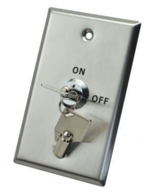 X2 Key Switch, Stainless Steel, Large, DPDT